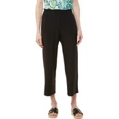 Passports Darted Flat Front Pull On Capris