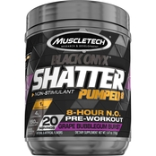 Muscletech SX7 Black Onyx Shatter Pumped 8 Grape Bubblegum Burst, 20 servings