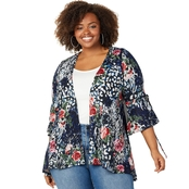 Avenue Plus Size Animal Rose Hacci Duster