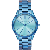 Michael Kors Women's Iridescent IP Stainless Steel Slim Runway Watch MK4390