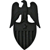Army Rank Insignia Aide To Brig. General Subdued Pin-on Sta Black 2 pk.