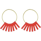 Panacea Suede Hoop Earrings