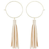 Panacea Suede Hoop Dangle Earring
