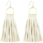 Panacea Suede Trio Tassel Earrings