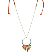 Panacea Adjustable Leather Pendant 24 in.