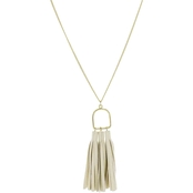 Panacea Suede Three Tassels Pendant 28 in.