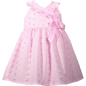 Bonnie Jean Infant Girls Eyelet Crossover Dress