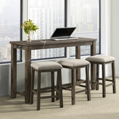 Elements Stone Multipurpose Bar Table Set in Gray