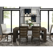 Elements Grady 7 pc. Dining Set with Slat Back Chair