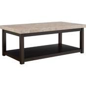 Elements Kansas Coffee Table with Marble Top