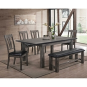 Elements Nathan 6 pc. Dining Set with Upholstered Seats