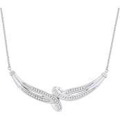 Sterling Silver 1/4 CTW Diamond Interlocking Necklace 17 in.