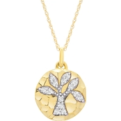 10K Yellow Gold 1/6 CTW Diamond Tree of Life Pendant