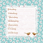 Susan Branch Weekly Deskpad