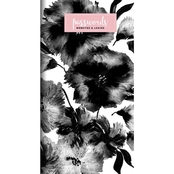 TF Publishing Black Floral Password Keeper