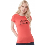 Armani Exchange Tee with Script Logo
