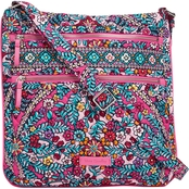Vera Bradley Kaledoscpe Triple Zip Hipster Crossbody Shoulder Bag