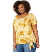 Avenue Plus Size Tie Dye Asymmetric Tunic