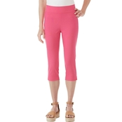 Passports Side Vent with Welt Pockets Capri Pants