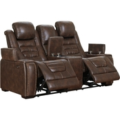 Signature Design by Ashley Game Zone Power Reclining Loveseat with Console