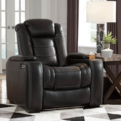 Party Time Power Recliner w Adjustable Headrest