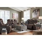 Signature Design by Ashley Game Zone Power Reclining Sofa and Loveseat Set