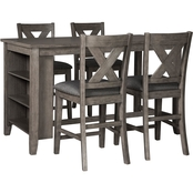 Signature Design by Ashley Caitbrook Counter Table Set with 4 Stools