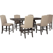 Audberry Counter Table w 6 Bar Stools