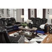 Party Time Power Reclining Sofa, Loveseat & Recliner w Adjustable Headrest