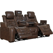Signature Design by Ashley Game Zone Power Reclining Sofa with Adjustable Headrests