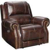 Signature Design by Ashley Buncrana Power Recliner with Adjustable Headrest