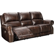 Buncrana Power Reclining Sofa with Adjustable Headrest