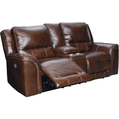 Catanzaro Power Reclining Loveseat with console with Adj Headrest
