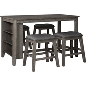 Signature Design by Ashley Caitbrook Counter Table with 4 Stools