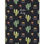 TF Publishing July 2019 - June 2020 Black Cactus Large Daily Weekly Monthly Planner