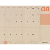 TF Publishing July 2019 - June 2020 Kraft Numeric Large Desk Pad Monthly Calendar