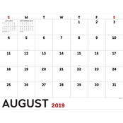 July 2019 to June 2020 Utility Large Desk Pad Monthly Calendar