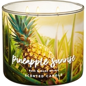 Bath & Body Works Adventure Awaits 3 Wick Candle, Pineapple Sunrise