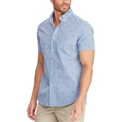 Chaps Cotton Blend Printed Shirt