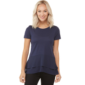 Michael Kors Solid Woven Double Hem Top