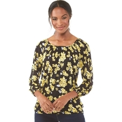 Michael Kors Glam Painterly Peasant Top