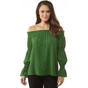 Micahel Kors Mini Monarch Off The Shoulder Top