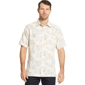 Van Heusen Air Sandwash Print Woven Button Down Shirt