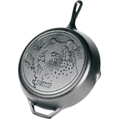 Lodge 12 in. Cast Iron Skillet with Bear Scene