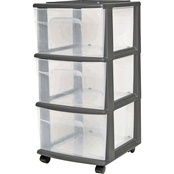 Homz 3 Drawer Medium Cart