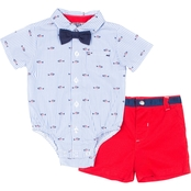Little Lads Infant Boys Fish Creeper Shorts 3 pc. Set