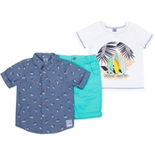 Little Lads Infant Boys Island Surfer 3 pc. Pants Set