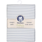 Gerber Striped Organic Changing Pad Cover
