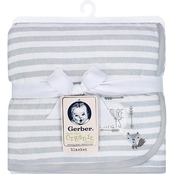 Gerber Striped 2 Ply Organic Cotton Blanket
