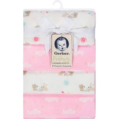 Gerber Hello and Woodland Organic Flannel Receiving Blanket 4 pk.